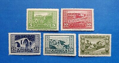 Albania Stamps, Scott 148 / 153 Short Set Mint And Hinged