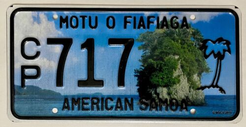 AMERICAN SAMOA Palm Tree License Plate - AS #CP717