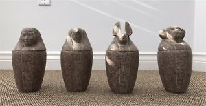 Egyptian Canopic Jars (set of 4)
