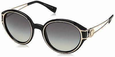 Versace Sunglasses VE4342 GB1/11 53mm Black Pale Gold / Grey Gradient Lens