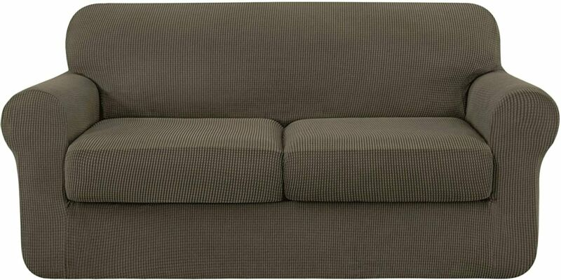 subrtex Sofa Cover High Stretch Couch Slipcover with Separate Cushion Couch Cove