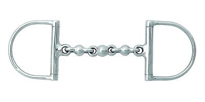 Korsteel Stainless Steel Waterford Mouth Hunter Dee Ring Snaffle Bit Mouth Ring Snaffle Bit