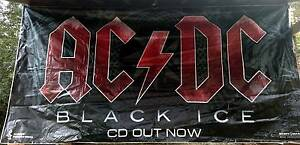 ACDC: BLACK ICE Banner – HUGE 6m x 3m Promotional Vinyl Banner. Kelmscott Armadale Area Preview