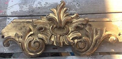 """Antique French Pediment Carved Wood Architectural Salvage Hollywood Regency 33"""""""