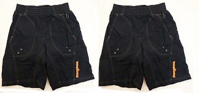 Lot of 2 Mongoose Mens SMALL Loose Fit BMX Bike Short Black Padded Mountain Bike