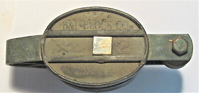 Vintage B L Block Co. Cast Aluminum Douple 2 Sheave W Becket Star 2