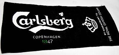 Carlsberg Bier Brauerei, Barhandtuch, Bartowel, schwarz
