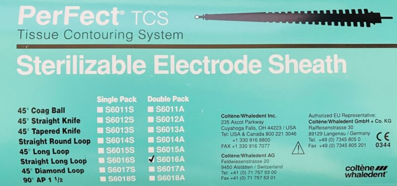 PerFect TCS Sterilizable Electrode Sheath Tissue Removal Straight Long Loop 2/Pk