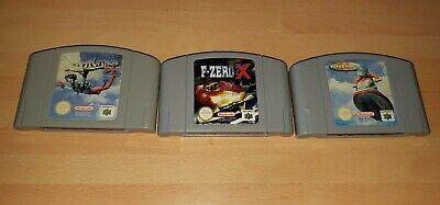 WAVERACE 64, PILOTWINGS, F-ZERO X - Nintendo PAL N64 Cart Cartridge only
