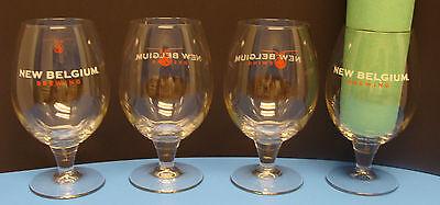 NEW BELGIUM BREWING FAT TIRE 18oz. SET OF 4pcs BEER GLASSES NEW