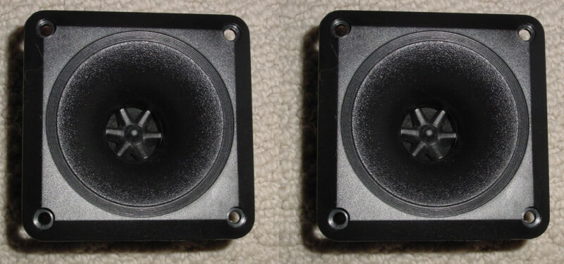 "2PC Set Piezo Horn Tweeter Wide Dispersion 50 Watt, 3.5"" with Mounting Screws!"