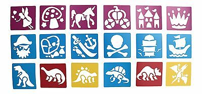 18 Stencils Templates Fantasy Pirate Fairy And Dinosaur For Kids Craft Kit