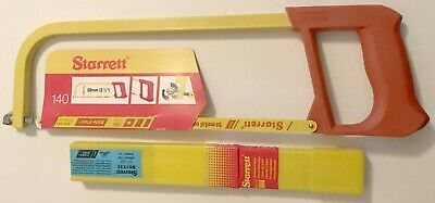 STARRETT LOT #140 HACKSAW FRAME & BS1232 50PC 12