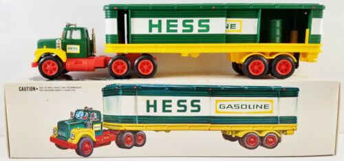 Hess Gasoline Toy Truck with Barrels 1976 NEW
