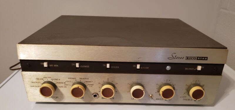 Eico ST 40 Integrated Tube Stereo Amplifier Vintage Audio