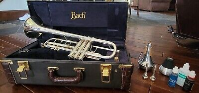 Vincent Bach Stradivarius Bb Model 37 Trumpet, Silver plate, with Extras!