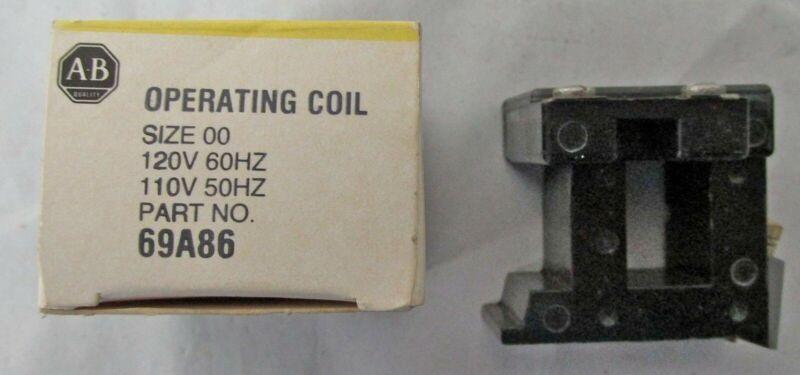 NEW ALLEN BRADLEY 69A86 SOLENOID OPERATING COIL 110/120V 50/60-HZ NIB