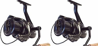 2 X Sonik Vader X 8000 Big Pit Carp Reels with spare spools NEW Fishing