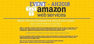 $100 aws credits amazon web service credits EC2 SQS RDS [AH EVENT]NON EDU CODE