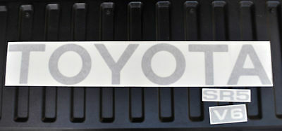 TOYOTA TRUCK TAILGATE LOGOS DECAL 89-95 CHARCOAL MET pickup ()