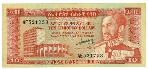 Ethiopia … P-27a … 10 Dollars … ND(1966) … Choice *XF-AU*