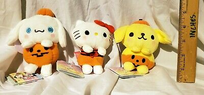 Characters Of Halloween (NEW SANRIO CHARACTERS & YOU HALLOWEEN SMALL PLUSH SET OF 3! JAPAN! FREE)