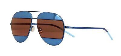 Christian Dior SPLIT 1 Blue/Blue Brown Mirror (Y4E/RD) Sunglasses