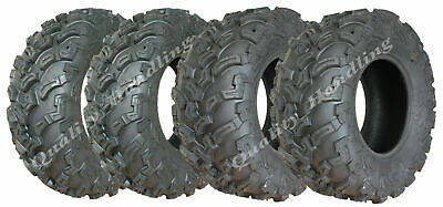 Quad ATV tyres 26x9-12 & 26x11-12 6 ply tires 7psi E marked road legal, Set of 4