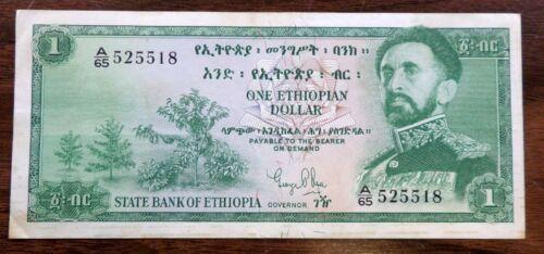 ETHIOPIA BANKNOTE 1961 PICK #18 VF