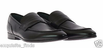 NEW VERSACE BLACK LEATHER LOAFER SHOES 42 - 9