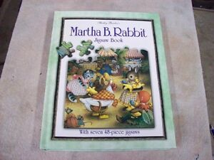 MARTHA B RABBIT JIGSAW PUZZLE BOOK