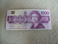 CANADIAN $1000 BILL 1988 EDITION
