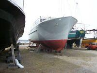 47ft ferro-cement live-aboard trawler