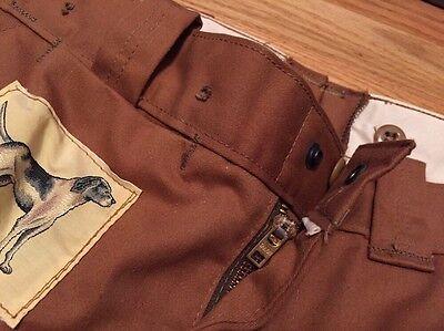 Vintage 1970s HUNTING Talon Zipper Sportsman Duck Brown Not Canvas Pants Size 34