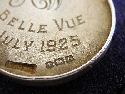 """Medaille MUSIK - signiert """"AW"""" Belle Vue - ANTIK von 1925 Silber mit Kette & Box"""