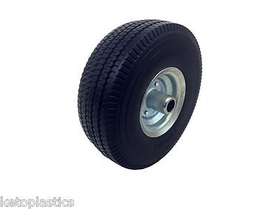 Off Set Galvanised PU Trolley / Sack Truck Wheel Puncture Proof 4.10 / 3.50 - 4