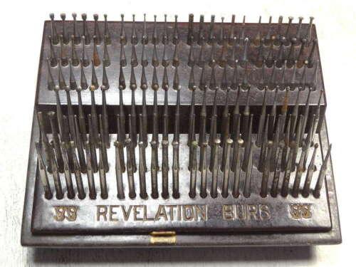 Set of SS White Revelation Dental Burs, Bakelight Case, 1930