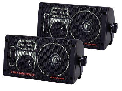 Pyramid 2060 300W 3-Wege-Auto-Audio-Minibox-Lautsprecher Indoor-Stereoanlage (Paar)