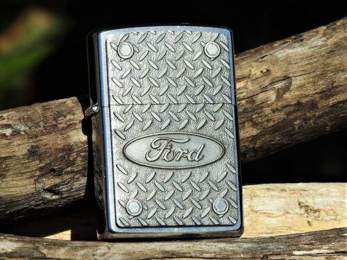 Zippo Lighter - Ford Motor Company - Diamond Plate - Oval - Mustang - Trucks