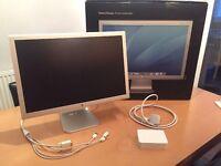"Apple 20"" Cinema Display & Dell 24"" Widescreen Monitor"