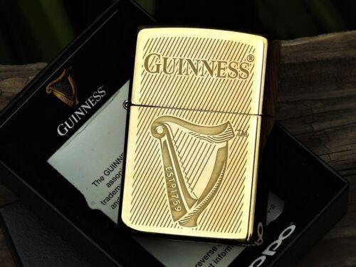 Zippo Lighter - Guinness - Harp Emblem - Irish Dry Stout - Dublin - 1759 - Beer