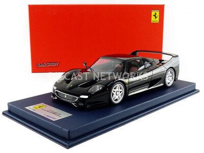 Looksmart 1995 Ferrari F50 Negro con Vitrina 1/18 Escala Nueva Versión