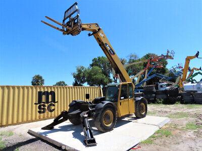 2010 Caterpillar Tl943 43 9000 Lbs Telescopic Reach Forklift Cab Qc Bidadoo