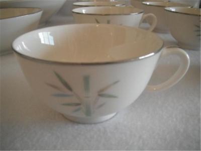 NORITAKE IVORY CHINA JESSIE #7529 CUP WHITE W/SILVER EDGE JAPAN MINT MULTIPLE AV