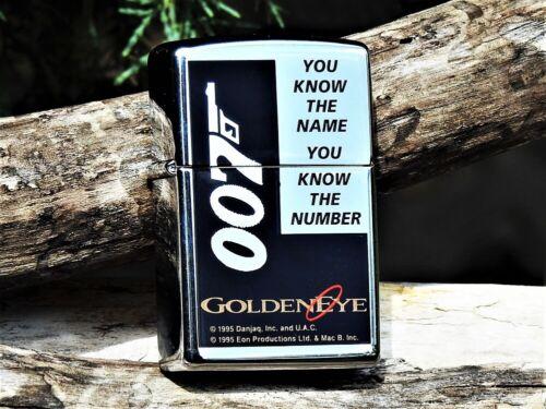 Zippo Lighter - James Bond 007 - GoldenEye - Rare - Pierce Brosnan - Golden Eye