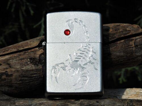 Zippo Lighter - Engraved Scorpion - European - Swarovski Crystal - # 1.420.059