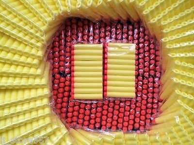 100pcs Bullet Darts For NERF Kids Toy Gun N-Strike Round Head Blasters #S Yellow