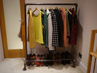 Industrial-styled domestic clothes rack