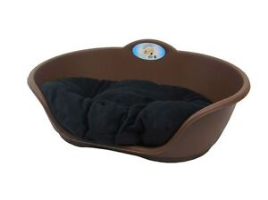 Large Plastic Dog Bed With Cushion