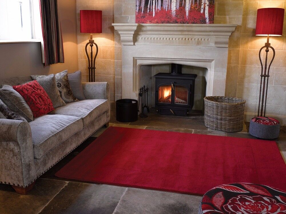 Beautiful Red 100% Wool Rug, @ £78.00, matching runner available, NR6 6GB